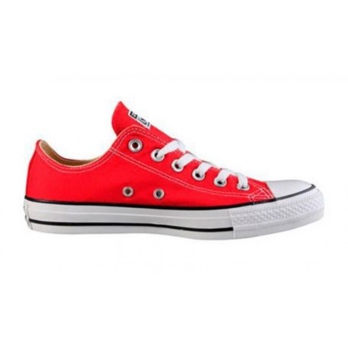 converse basse femme rouge