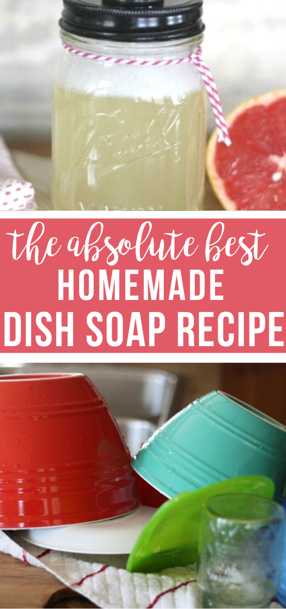 Thrifty DIY Dish soap recipe in 2020 Homemade cleaning