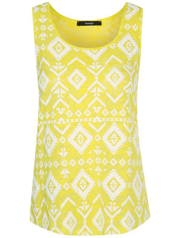 e4e13440368 Burnout Printed Vest Evening Tops, Asda, Stylish Outfits, Tunics, Blouses,  Summer