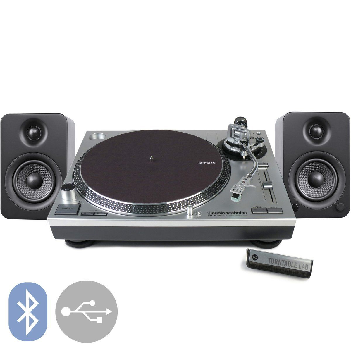 Audio Technica At Lp120x Kanto Yu4 Turntable Package Usb Turntable Audio Technica Turntable