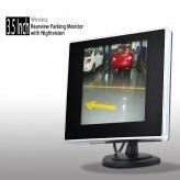 3.5 Inch Wireless Rearview Parking Monitor with Nightvision Camera