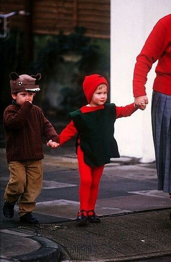 December 09 1987 Prince Harry Arrives At His Nursery School Dressed As A Pixie