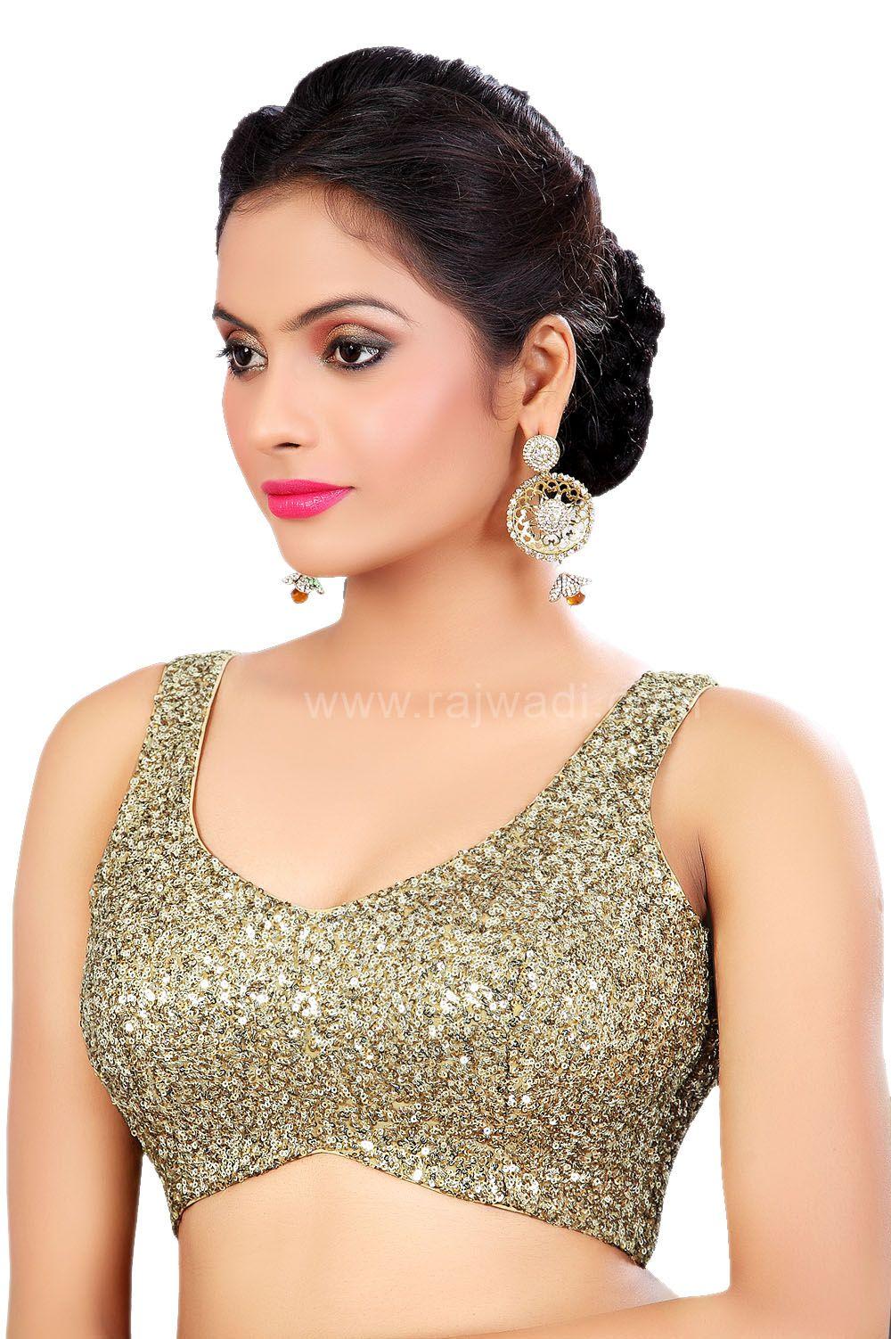 a4b58b9b8cb31d Golden Coloured Ready Made Choli Saree Blouse Patterns, Sari Blouse, Saree  Blouse Designs,