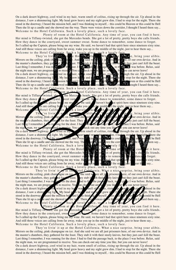 Easy Song Lyric Vintage Quote Print