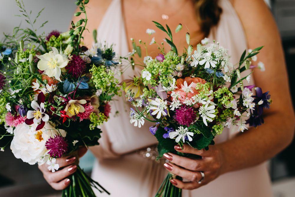 Bawdon Lodge Farm Wedding Fun Relaxed & Colourful Summer Tipi #weddingbridesmaidbouquets