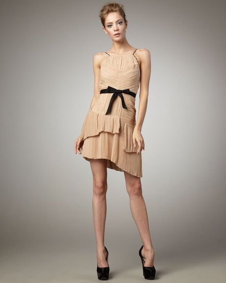 Lynda Pleated Dress, Sand - Lyst  This one too.