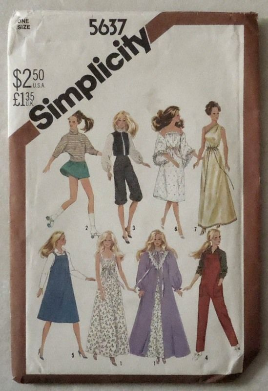 UNCUT SIMPLICITY BARBIE DOLL SEWING PATTERN #5637 #Simplicity