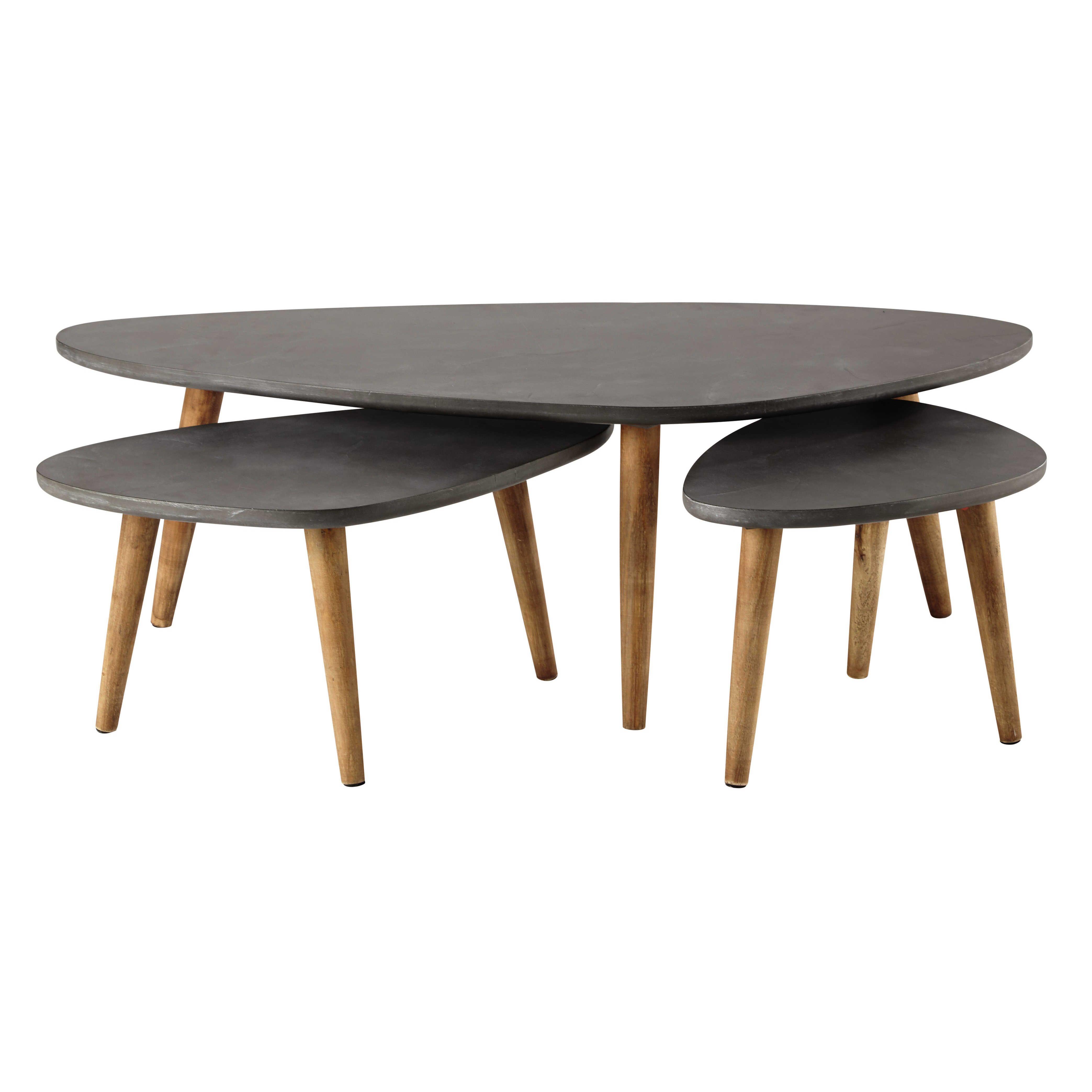 Mesas apilables gris | Mesas bajas
