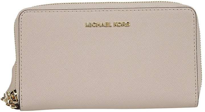 716fb8b99add59 Michael Kors Jet Set Travel Zip Around Wallet | Portefeuille Michael ...