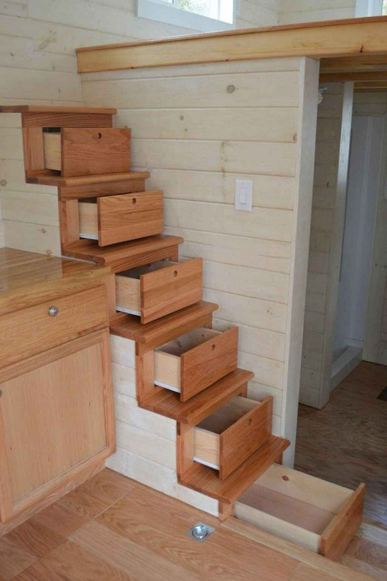 75 Exciting Loft Stair For Tiny House Ideas - Page 65 of 75 #tinyhousestorage