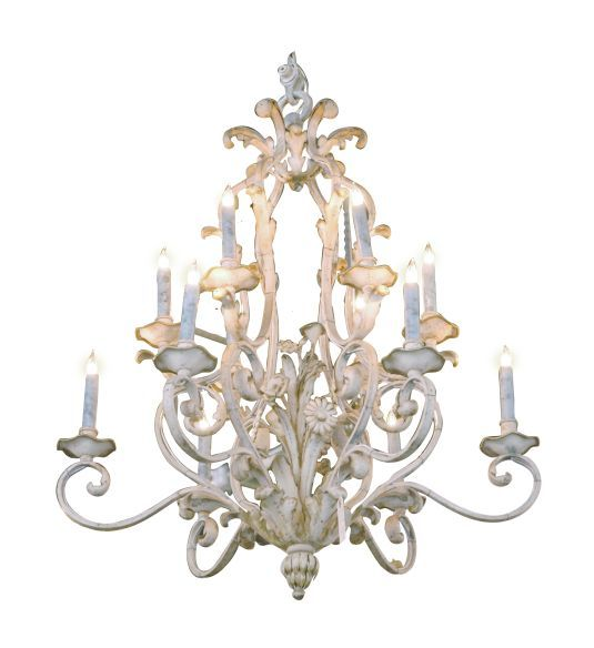French country two-tiered painted iron chandelier. Why does this have to be so expensive? Why!!!!!!!!!!!!!!!