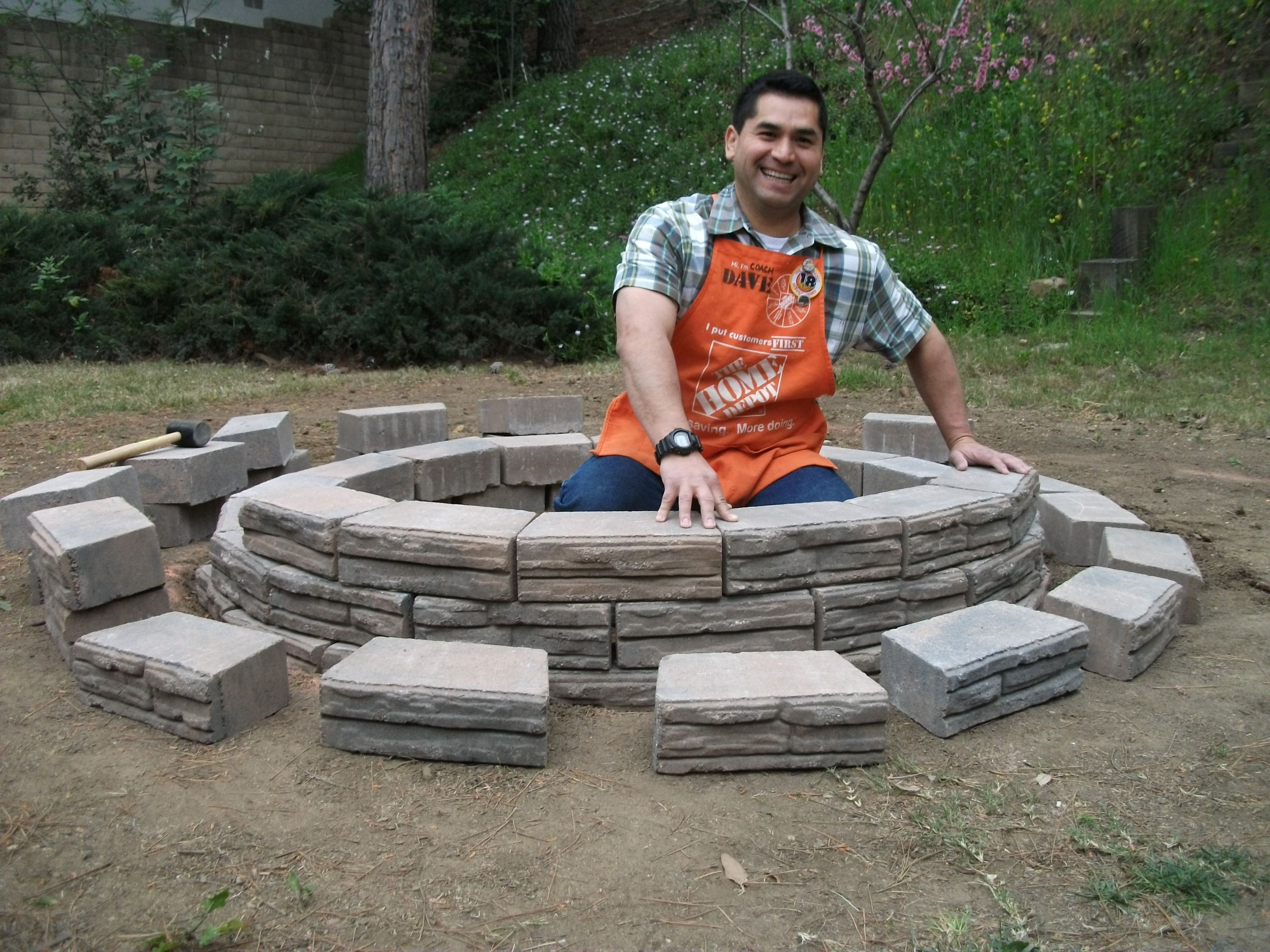 How To Build A Fire Pit Home Depot Above Ground Fire Pit How