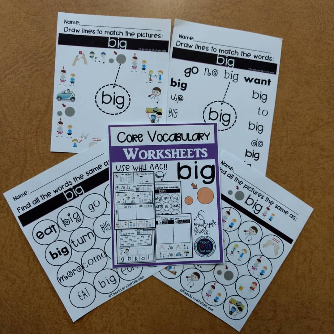 These Core Vocabulary Worksheets Are Multi Leveled And