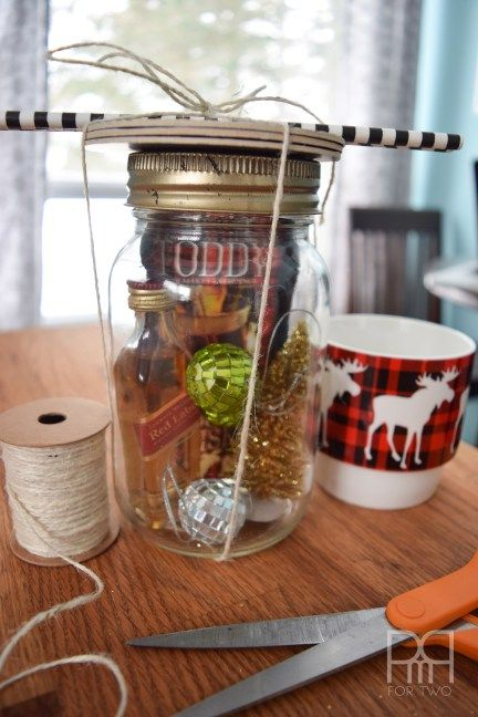 Give the gift of handmade: Make your own DIY Hot Toddy in a mason jar gift set for a special someone. Upcycle your mason jars and fill them with goodies.