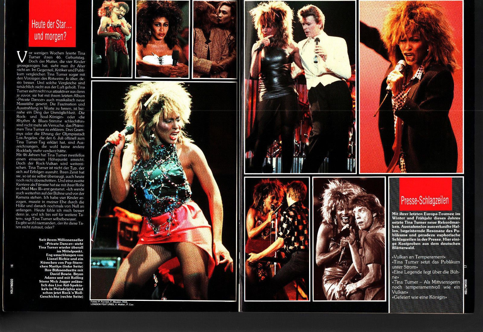 Hollywood 1 1986 Tina Turner Quatermain David Lee Roth Ebay David Lee Roth Tina Turner David Lee