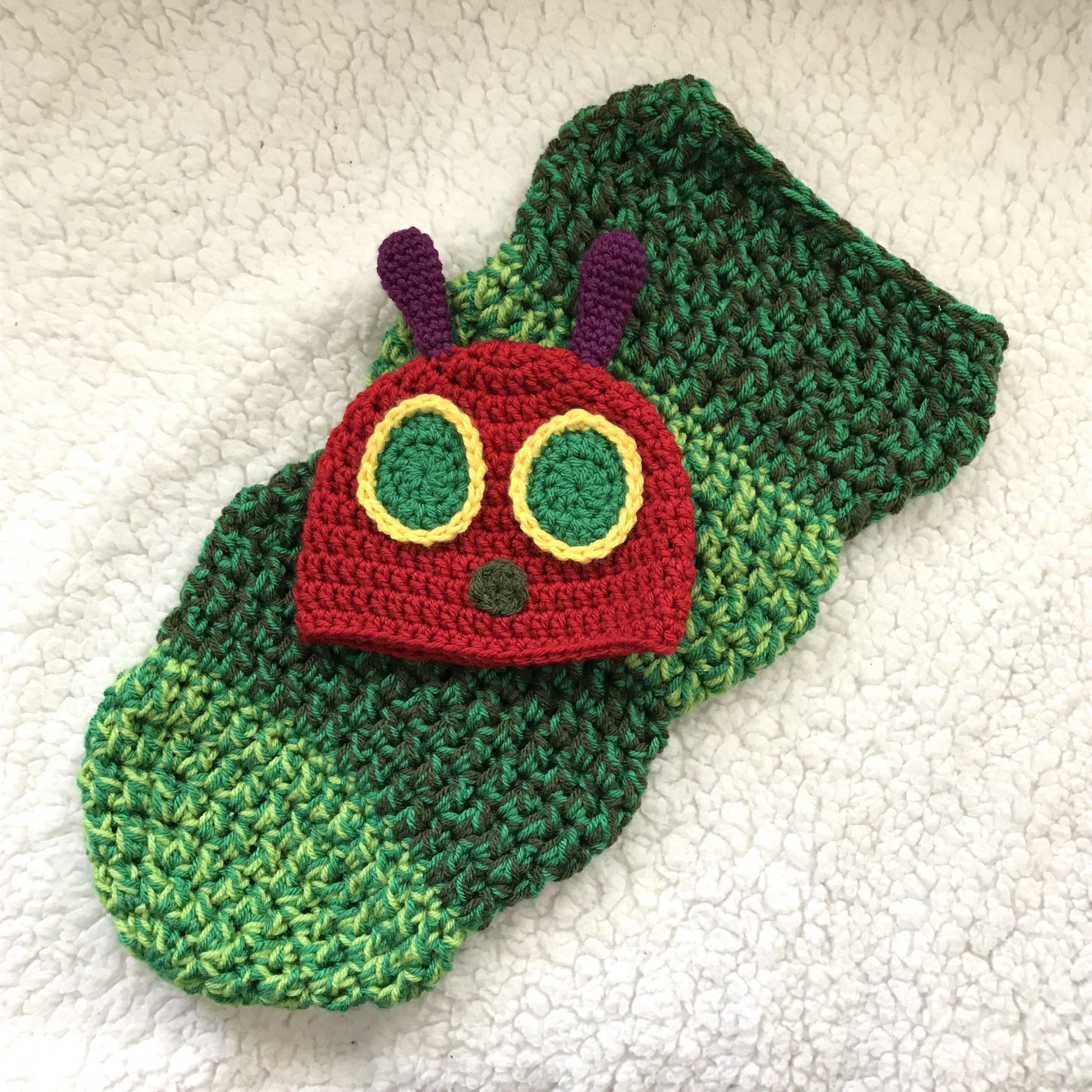 Very Hungry Caterpillar Hat and Cocoon Set - Newborn Photography ...