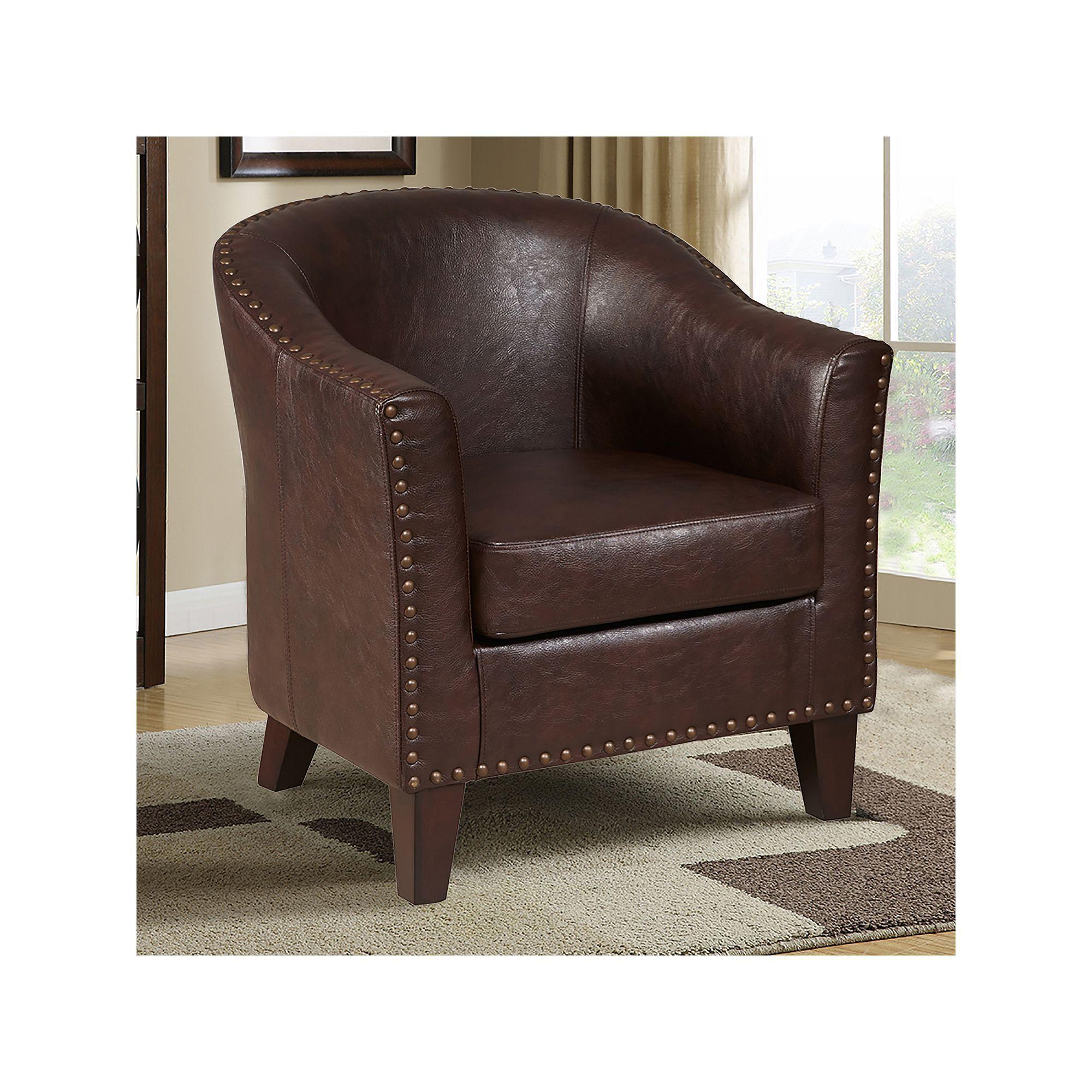 Awe Inspiring Pulaski Nailhead Faux Leather Tub Chair Products Accent Creativecarmelina Interior Chair Design Creativecarmelinacom