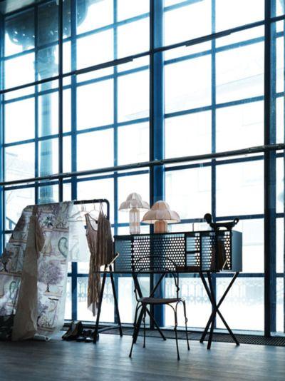 Vanity and dressing rack, natural light Apartment Pinterest
