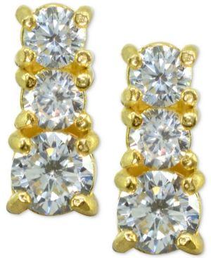 39579a92963 Giani Bernini Cubic Zirconia Graduated Stud Earrings in Sterling Silver