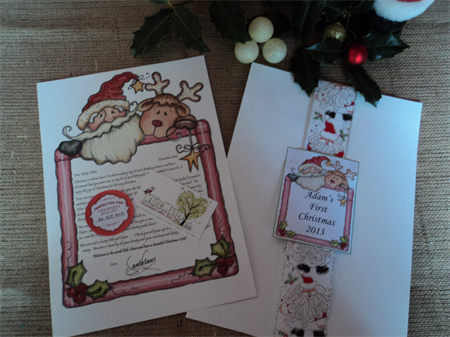 babys first christmas personalised letter from santa truly