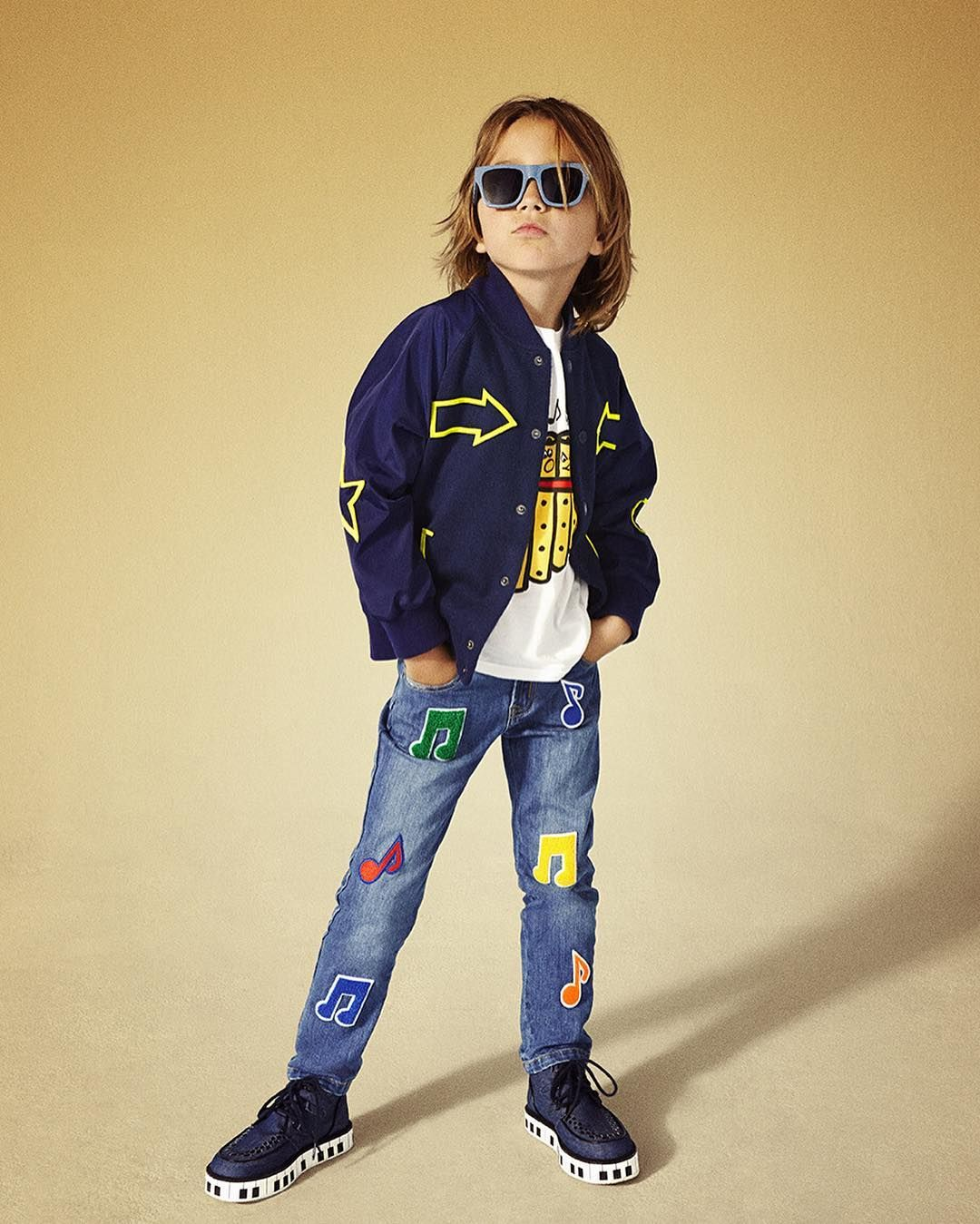 Stella dudes rock new collection prints.  Now available at #StellaMcCartney.com #StellaKids #StellaMcCartneyKids