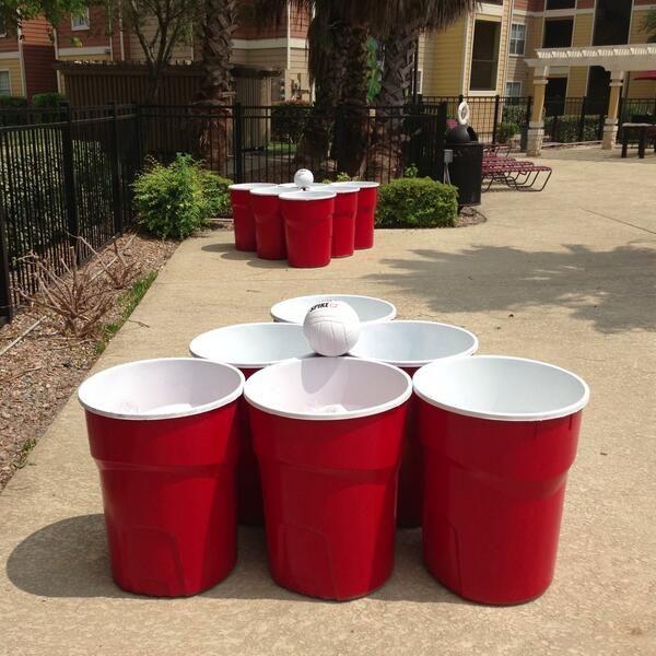 Giant Beer Pong Set Up 1