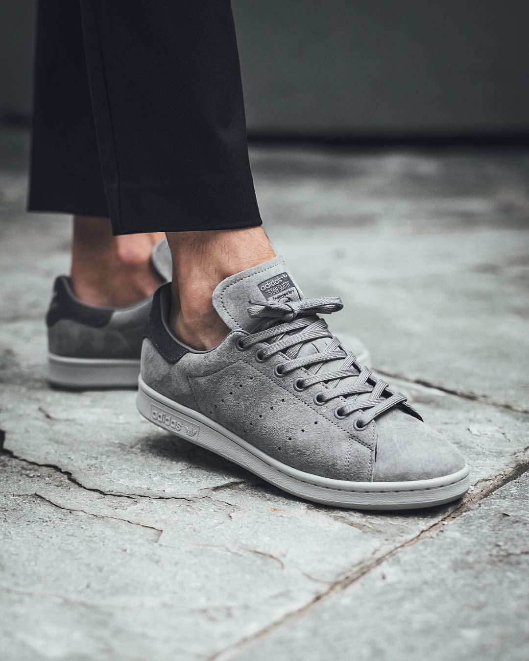 adidas stan smith white grey five