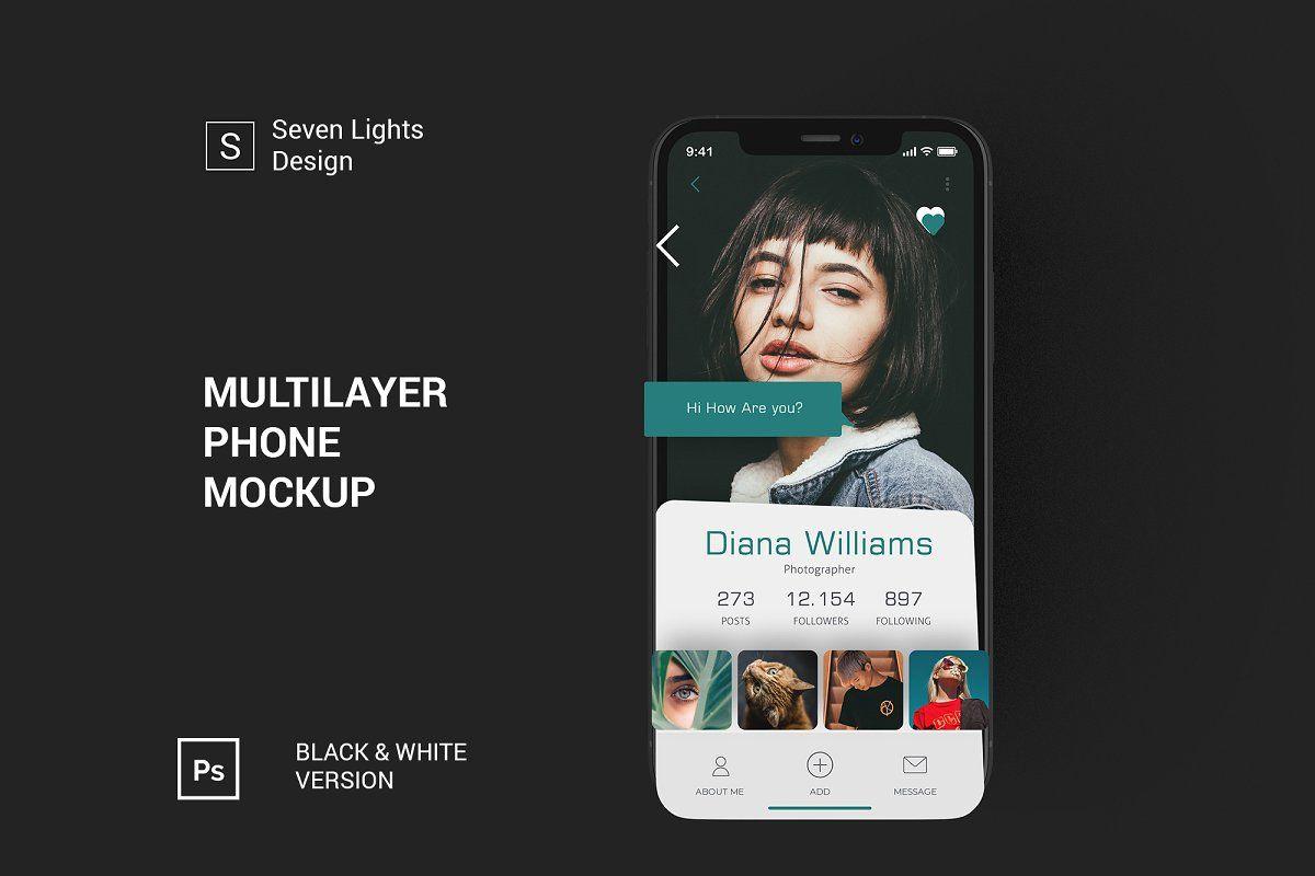 Iphone X Multilayer Mockup 4 Multi Layering Business Card Logo Iphone Mockup