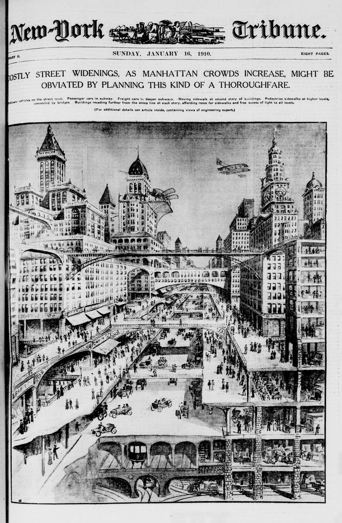The New York City That Never Was Part Iii Roadways And Railways Layered Architecture City Nyc History