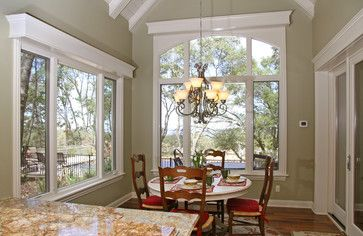 Window With Cornice Out Of Wood Trim Hide Blinds Add