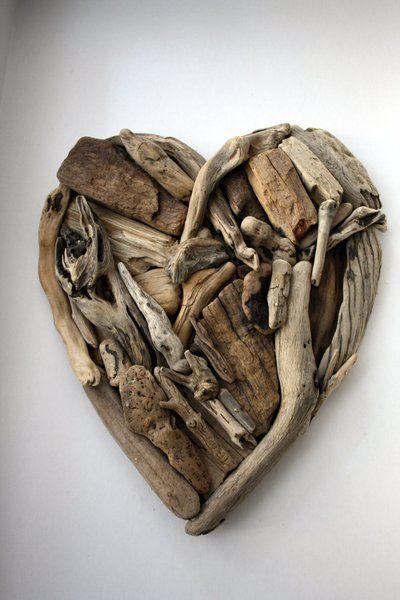 Wall Decorations – Driftwood heart – a unique product by yalos-alanya on DaWanda