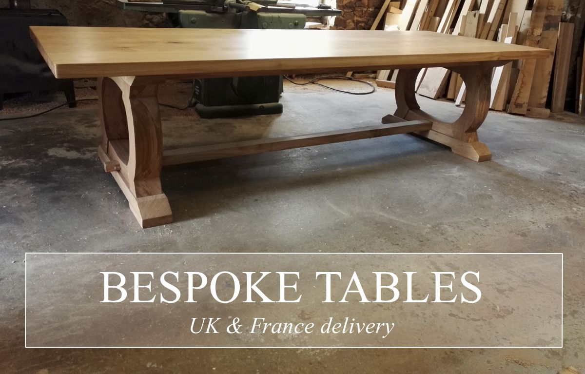 Handmade Oak Dining Table With Curved Base In 2020 Dining Table