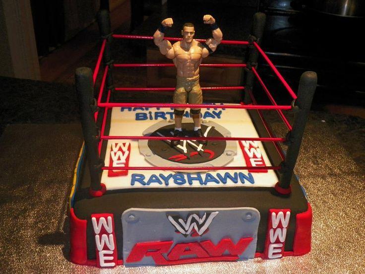 John Cena Inspired WWE Cake Wrestling Birthday ideas Pinterest