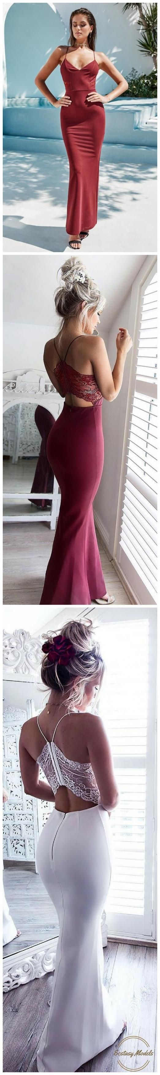 custom made gorgeous burgundy prom dresssee through back