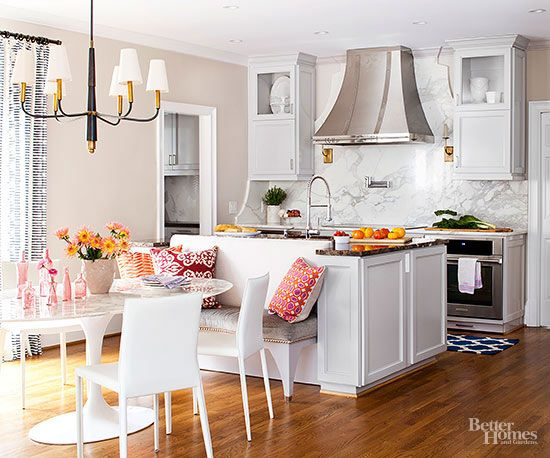 Before-and-After Kitchen Makeovers | Kitchen makeovers, Banquettes