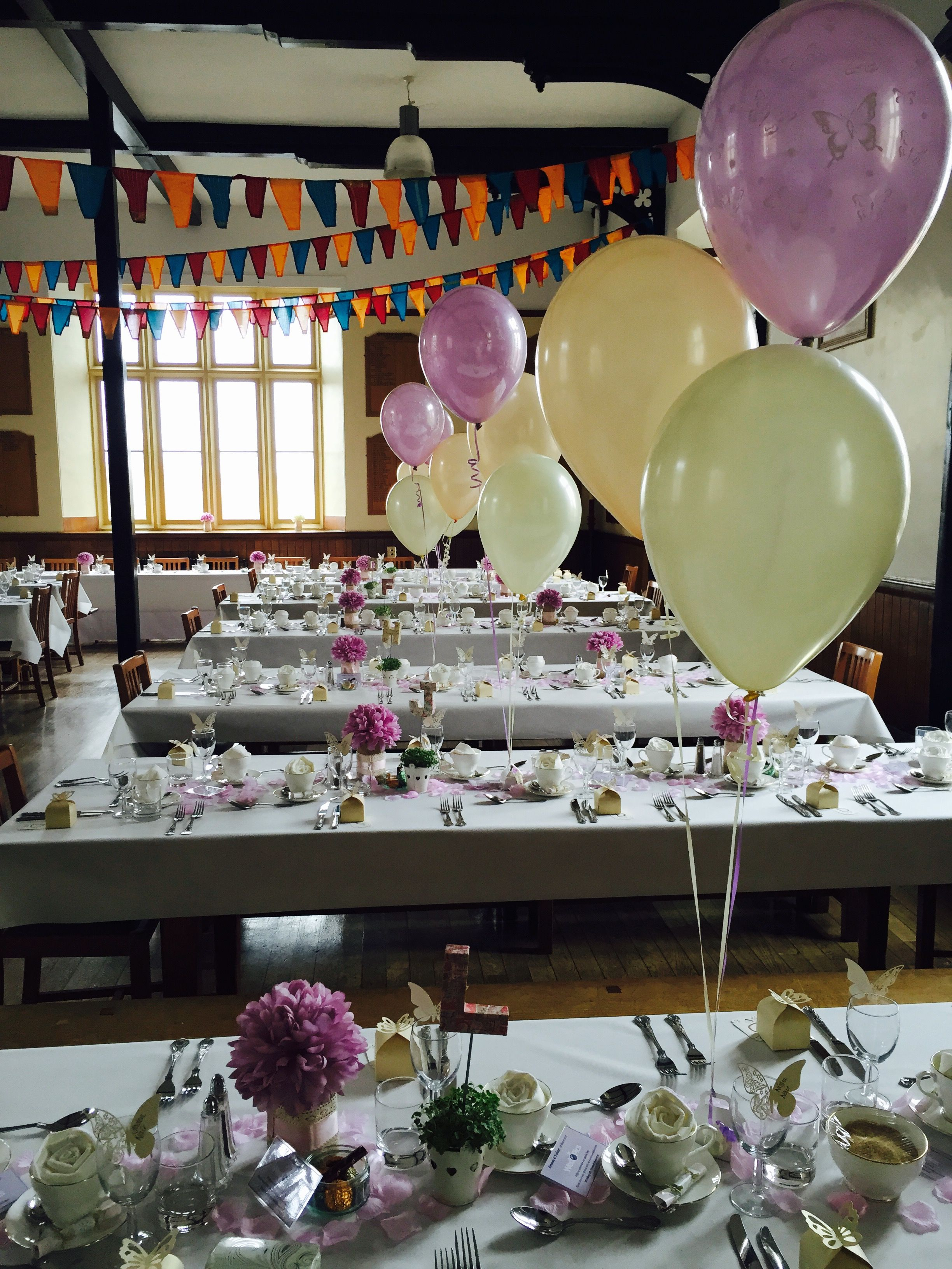 Lilac Butterflies, Peach And Ivory Table Decorations