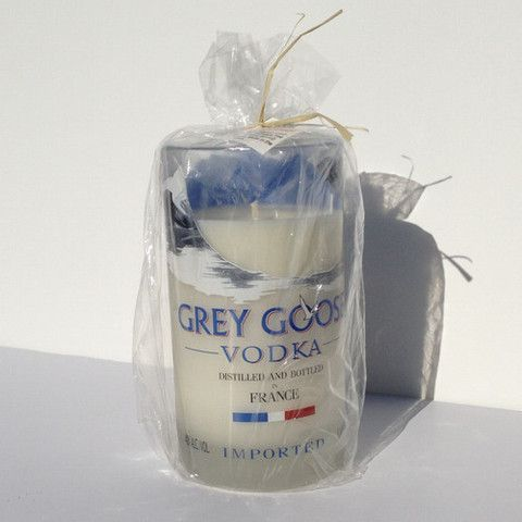 Class up your bar with this elegant Grey Goose Vodka Candle! They smell fantastic, burn clean, and look Awesome!