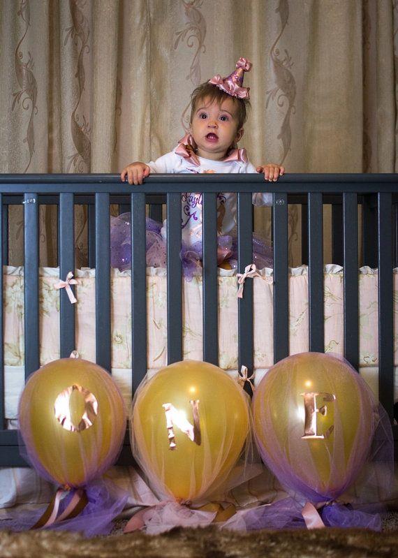 Personalized Balloon - Balloon Garland - Tulle Balloons- Party Decor - Balloon Centerpiece