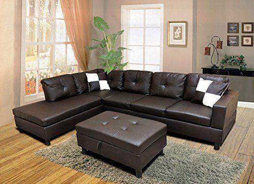 Phenomenal Winpex 3 Piece Faux Leather Sectional Sofa Set With Free Spiritservingveterans Wood Chair Design Ideas Spiritservingveteransorg