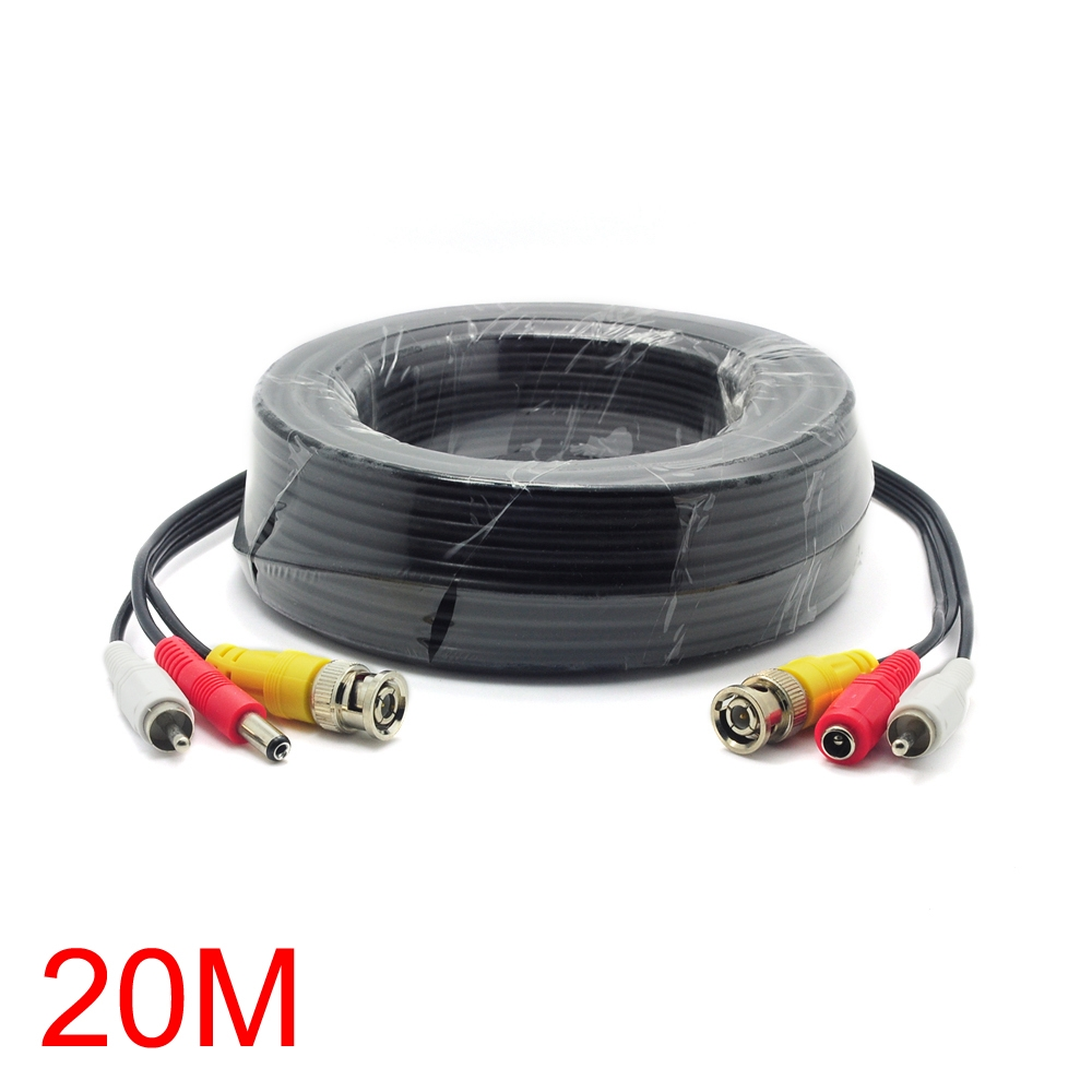 19.99$  Watch now - http://aliwru.shopchina.info/go.php?t=32421467125 - 20M/65FT BNC RCA DC Connector Video Audio Power Wire Cable For CCTV Camera 19.99$ #magazineonlinebeautiful