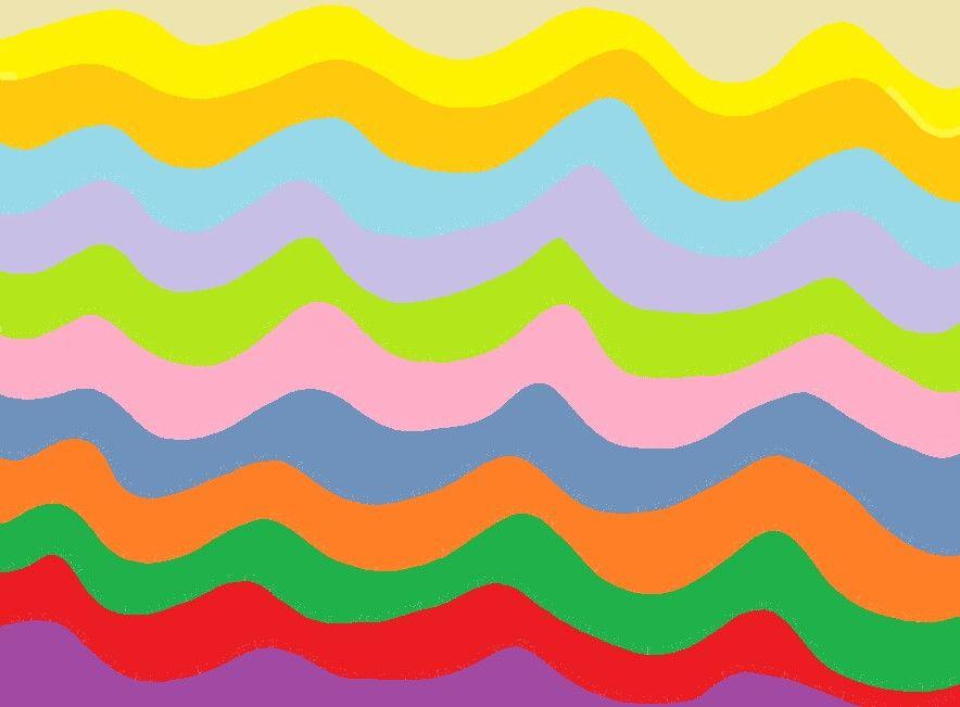 Líneas curvas de colores