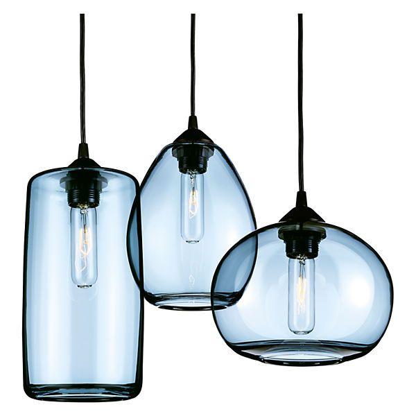pendant set lighting. hennepin made sky pendant sets pendants mixed set of three in steel blue lighting m