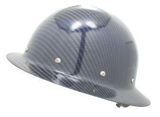 Cc Carbon Blue Kevlar Hard Hat Full Brim Custom Hard Hats