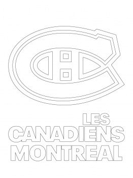 montreal canadiens logo coloring page google search