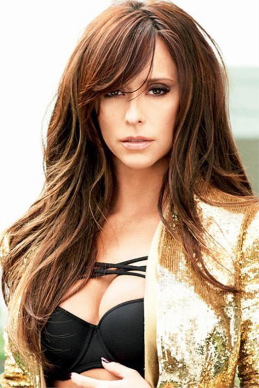 Jennifer Love Hewitt Hotauburnheads Top50gingeredheads Sexiest100 Top50milfcougars Hotcelebs Side Bangs Hairstyles Long Layered Hair Long Hair With Bangs