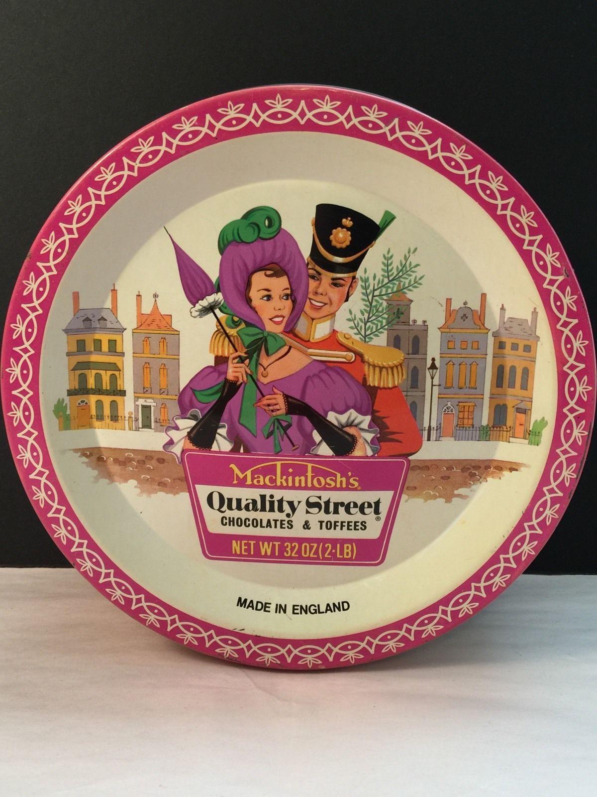 Vtg Hershey Mackintosh Quality Street Chocolate Toffee Candy Tin ...