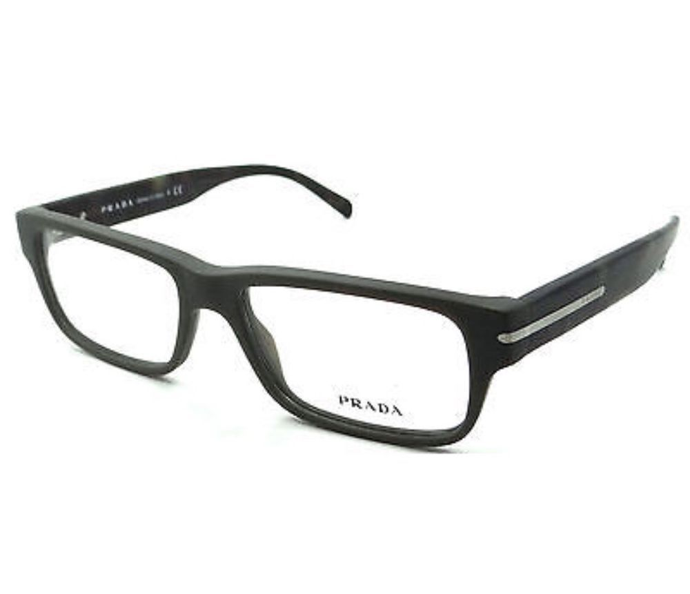 e5f15b23cb7 ❤️PRADA Matte Gray Unisex Eyeglasses VPR 22R TV4-101 54mm Made In Italy  🇮🇹  PRADA