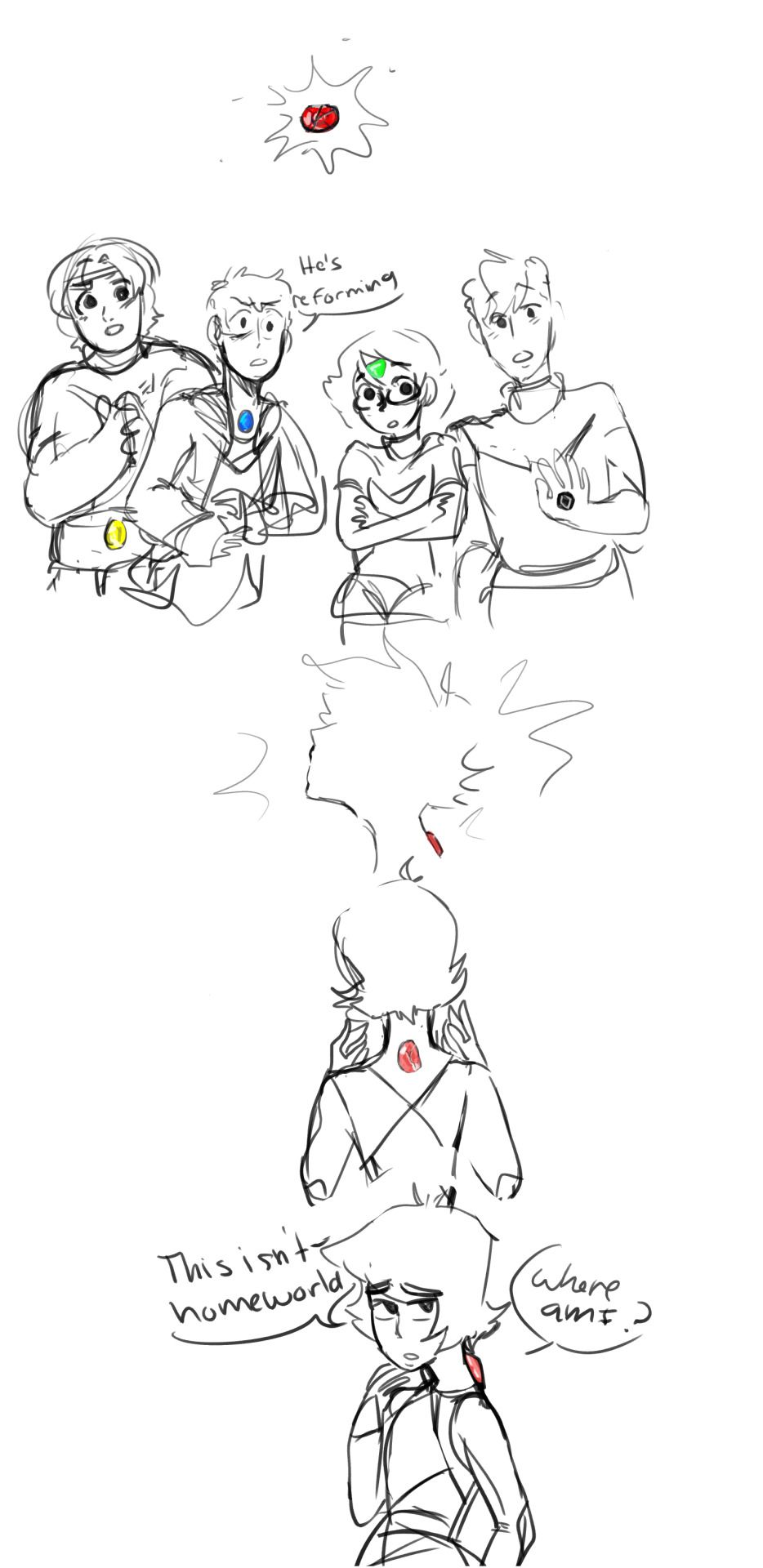 so i finally fleshed out my voltron su au here's a quick