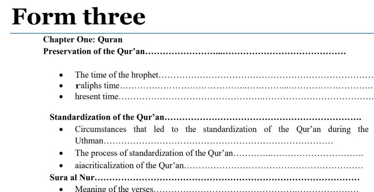 Form 3 Islamic Religious Education (IRE) Notes pdf, Kenya in 2019