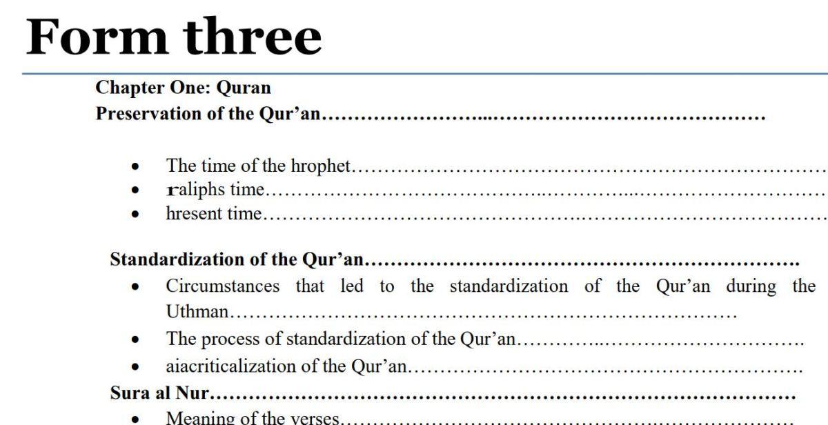 Form 3 Islamic Religious Education (IRE) Notes pdf, Kenya